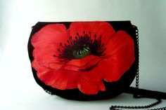 MacMac Big red poppy purse by PrintUnique on Etsy