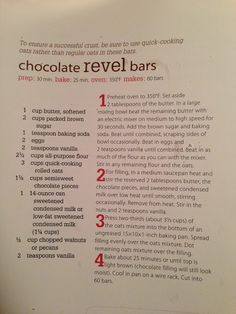 All the girly things: Chocolate Revel Bars Recipe