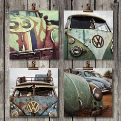 Vintage Volkswagen Set | Collection of 4 Prints | Classic VW | Vintage Auto | Fredericksburg, TX | Fine Art Photography Prints -by ScarolaPhotography