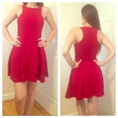 Beautiful Blood Red Dress Worn once, very light and great for any occasion. It's a size XS but I think it would fit an S Dresses