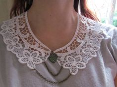 Peter Pan Lace Collar white with antique by DaisyLaceDesigns, £20.00