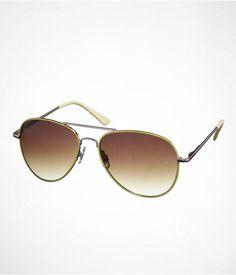 Express Womens Colored Aviator Sunglasses