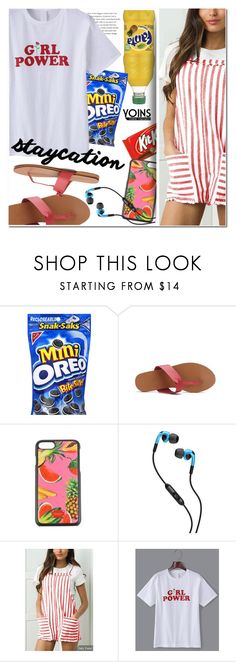 """""""Rest Up: Staycation with YOINS"""" by ansev ❤ liked on Polyvore featuring Dolce&Gabbana, Skullcandy and staycation"""