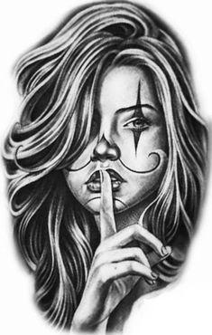 Tattoos Discover Top 30 Best Canvas Designs Art Wallpaper for Girls Pictures - My best wallpaper list Skull Girl Tattoo Girl Face Tattoo Clown Tattoo Girl Tattoos Chicano Art Tattoos Chicano Drawings Body Art Tattoos Sleeve Tattoos Tattoo Sketches Skull Girl Tattoo, Girl Face Tattoo, Clown Tattoo, Skull Tattoos, Body Art Tattoos, Girl Tattoos, Sleeve Tattoos, Arte Cholo, Cholo Art