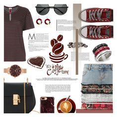 """Caffeine Fix: Coffee Break"" by ashblondredhed ❤ liked on Polyvore featuring Chloé, Faith Connexion, MASSCOB, Converse, John Hardy, Olivia Burton, Kendra Scott, contestentry and coffeebreak"