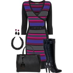 A fashion look from November 2014 featuring Phase Eight dresses, Fendi handbags and Mixit necklaces. Browse and shop related looks.