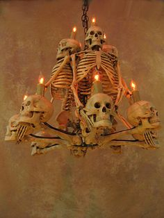 Four skeleton chandelier halloween prop human skeletons skulls skeleton chandelier w four 33 inch skeletons mozeypictures Choice Image