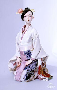 Porcelain Doll 'Fairy in Kimono' | Фарфоровая кукла «Фея в кимоно» — Купить, заказать, кукла, интерьер, фарфор, фея, кимоно, ручная работа