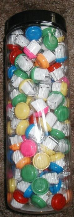Challenge Capsules - with link. :) Author recommends using Easter eggs as the prize capsules are on the expensive side.