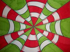 Art lesson plans! A new simple design to add to the op art ideas.
