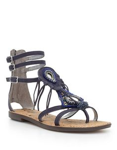 a8718073786f New Sam Edelman GISELLE Calf Hair Toe Ring Flat Thong Gladiator Cage Sandal  6 36