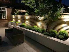 Back Garden Landscaping, Small Backyard Gardens, Modern Backyard, Backyard Patio Designs, Modern Landscaping, Modern Landscape Design, Modern Garden Design, Back Garden Design, Fence Design