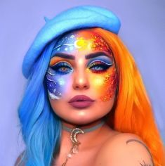 My life took a turn today when I realized that winter doesn't officially start until December I need to re-evaluate my life… Cool Makeup Looks, Crazy Makeup, Cute Makeup, Makeup Art, Fairy Makeup, Mermaid Makeup, Unique Makeup, Creative Makeup Looks, Colorful Makeup