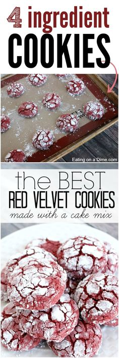 Try this delicious Red Velvet Cookies Recipe - they crinkle up beautifully!