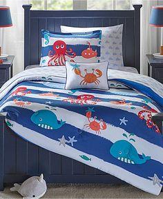 c30eb301ac3 Mi Zone Kids Sealife 8-Pc. Reversible Full Comforter Set Bedding Boy  Toddler Bedroom