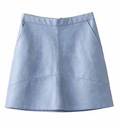 Taryn Leather Mini Skirt  #blue #black #vegan #leather #soft #mini #fashion #clothing #chic #boho #trend #trendy #trending #ootd #musthave