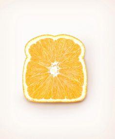Imagem de orange, fruit, and bread