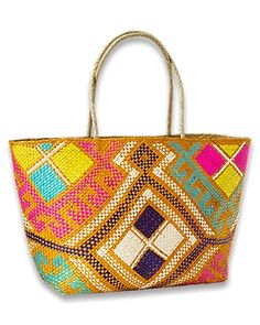This may be the closest I will get to the beach for a while, but it is a great way to keep the dream alive: Multi Woven Tote by Tommy Bahama (as recommended by @Lucky Magazine)