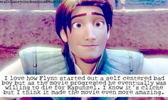 """I love how Flynn started out a self-centered bad boy but as the movie progressed he eventually was willing to die for Rapunzel. I know its cliche but I think it made the movie even more amazing. Disney Jokes, Disney Facts, Disney Dream, Cute Disney, Funny Disney, Disney Tangled, Disney Magic, Disney And Dreamworks, Disney Pixar"