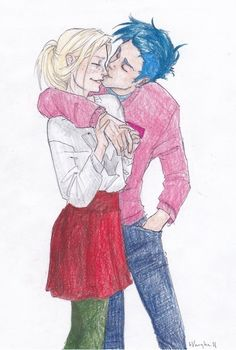 Victoire Weasley and Teddy Lupin - I love how Jo made Teddy a metamorphigi (i think i spelled it right) in honor of his mum <3 WHY DID REMUS AND TONKS HAVE TO DIE!?