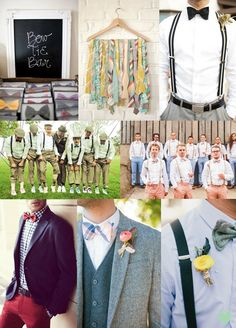 Groomsmen Bow Ties Mood Board from The Wedding Community