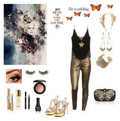 """""""Butterflies Ascend"""" by kittychris on Polyvore featuring Bisou Bisou, J Brand, Two Lips, Guerlain, Yves Saint Laurent, Sisley, shu uemura, MAC Cosmetics, Allurez and Effy Jewelry"""