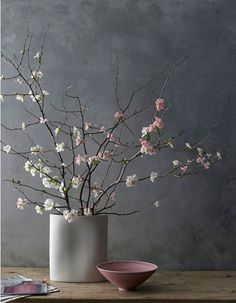 beautiful flowering branches Grey & pink - nice color combination.