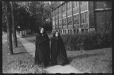 Nuns walking along a street in Burlington, Vermont