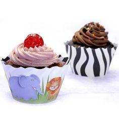 Forma para Cupcake ULTRAFEST Floresta/Zebrinha - 12 unidades