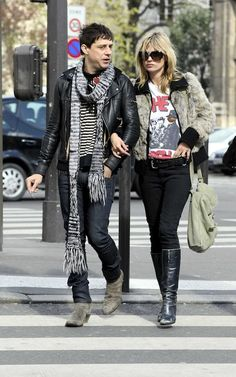 Kate Moss in her beloved band tee