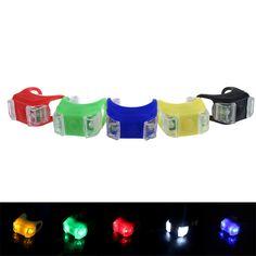 B2 6 Colores Nuevo Silicón De La Bicicleta de Seguridad BU Estirada Lámpara de Luz de Iluminación LED Linterna de la Bici Bicicleta Accesorios Al Por Menor y Al Por Mayor