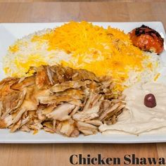 Lunch Suggestion of the Day! CHICKEN SHAWARMA - Marinated chicken chunks mounted on a large rotating skewer roasted slowly to perfection against a gas burning grill served with garlic sauce basmati rice hummus and fattoush. #bluefournogrill #sandiego #food #cuisine #mediterranean #mediterraneanfood #restaurant #fresh #healthy #local