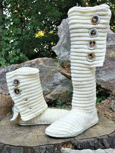 Stylish and trendy, these boots can be worn outside as this pattern not only teaches you how to crochet the boot, but also how to create a rubber outer sole using a premade flip-flop, as well as comfy inner sole. The boots are crocheted in 2 pieces a...