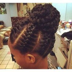 Latest Cornrow Braids Updo Hairstyles For Black Women 2016 Style in Hair