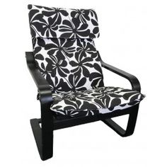 IKEA Poang cover from Knesting in Black & White Swirl