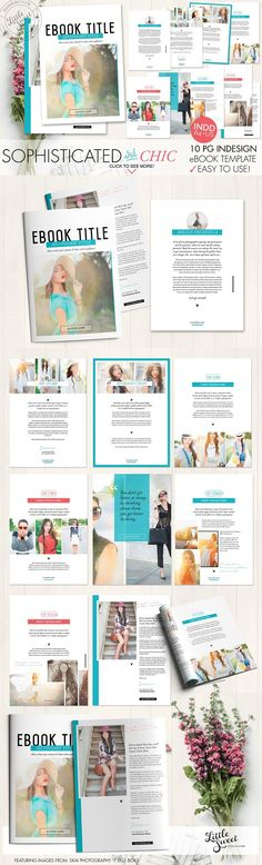 10 page InDesign INDD eBook Template by Little Sweet Designs on @creativemarket