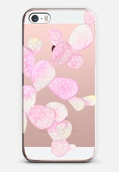 Watercolor Cactus: Pink Transparent for the new iPhone SE by @very_sarie | @casetify