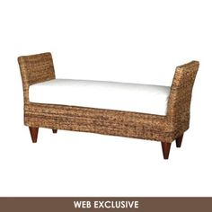 Francis Wicker Bench | Kirkland's-I like this & would go with anything.
