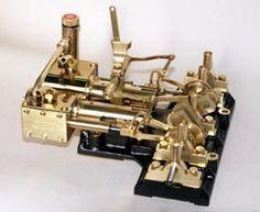 Brass Twin Cylinder Horizontal Stationary Steam Engine