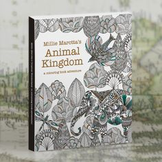 30 Pages Animal Kingdom in English painted large-size color postcard books painting graffiti coloring book decompression