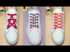 23 Creative Ways to fasten Shoelaces - Cool ideas how to tie shoe laces - YouTub. How To Tie Laces, How To Make Shoes, Ways To Lace Shoes, Lace Up Shoes, Creative Shoes, Unique Shoes, Ways To Tie Shoelaces, Shoe Lacing Techniques, Tennis Vans