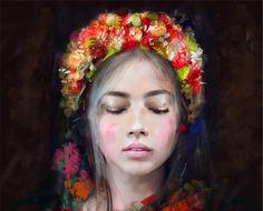 KRZANOO ART - digital painter from Poland  #obraz #painting #portrait #drawing #digital painting #art #home #walldeco # decoration #dekoracje #women #origami # wreath #style #fashion #face #model #plakat #poster #illustration #canvas #design #wnetrza #homeinterior #traditional #costume