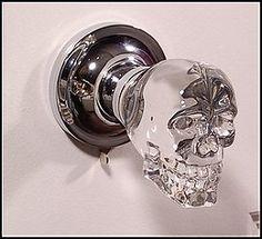 skull door knobs
