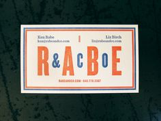Rabe & Co / Business Cards