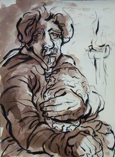 Water, ink and pencil on paper  By Elaheh Riyazat