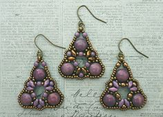 Playing with my beads...Dante Earrings