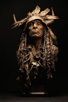 Coleman Studios - Western Art by John Coleman, Cowboy Artist: Bronze, Oil, Charcoal Native American Pictures, Native American Artwork, American Indian Art, Arte Elemental, Sculpture Art, Sculptures, Native Tattoos, Indian Artwork, Wood Carving Art