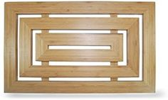 Luxury Rectangular Bamboo Duckboard