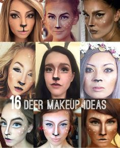 deer makeup | Tumblr