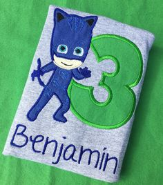 A personal favorite from my Etsy shop https://www.etsy.com/listing/275943402/pj-masks-cat-boy-embroidered-applique